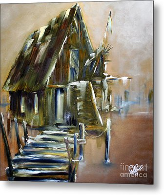 The Forgotten Shack Metal Print by David Kacey