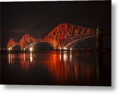 The Forth Bridge By Night Metal Print