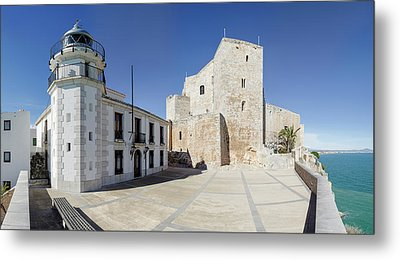 The Fortress And Lighthouse, Chateau De Metal Print