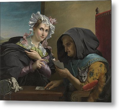 The Fortune Teller Metal Print by Adele Kindt