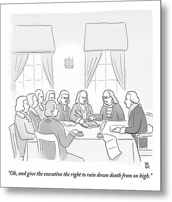 The Founding Fathers Drafting The Constitution Metal Print by Paul Noth