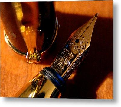 The Fountain Pen Metal Print by Alessandro Della Pietra