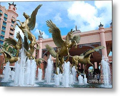 The Fountains At Atlantis Metal Print