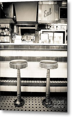 The Four Aces Diner Metal Print by Edward Fielding