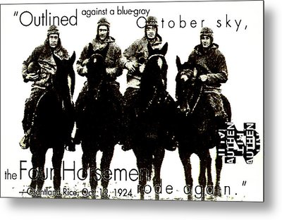 The Four Horsemen Of Notre Dame Metal Print by David Patterson