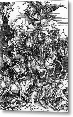 The Four Horsemen Of The Apocalypse Metal Print by Albrecht Durer