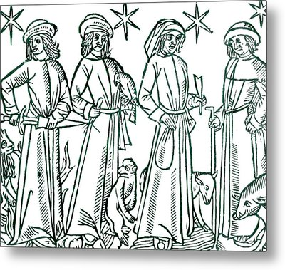 The Four Humours Metal Print by Universal History Archive/uig