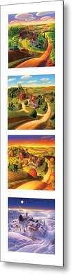 The Four Seasons Vertical Format Metal Print
