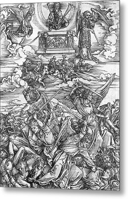 The Four Vengeful Angels Metal Print by Albrecht Durer or Duerer