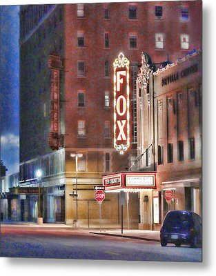 The Fox After The Show Metal Print