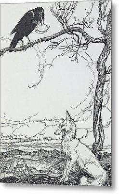 The Fox And The Crow Metal Print