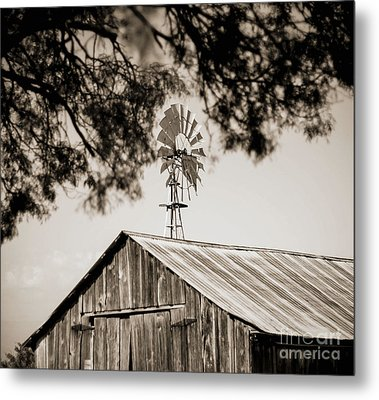 Metal Print featuring the photograph The Framed Windmill by Amber Kresge