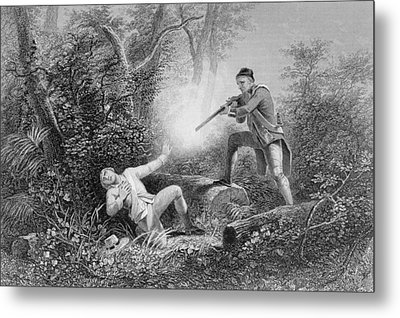 The Fratricide At Wyoming Metal Print