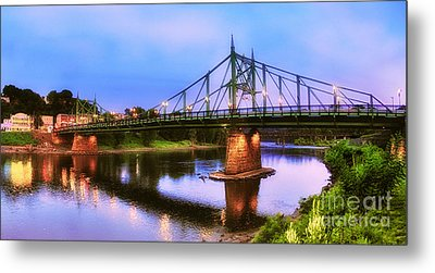 The Free Bridge Metal Print by Mark Miller