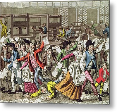 The Freedom Of The Press, 1797 Coloured Engraving Metal Print by French School