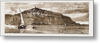The French Occupation Of Tunis, 1881 The Village Of Saudi Metal Print by Litz Collection
