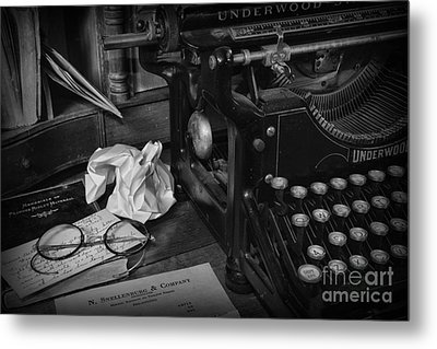 The Frustrated Writer Metal Print by Paul Ward