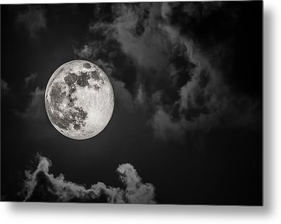 The Full Moon Is Calling Metal Print by Andres Leon
