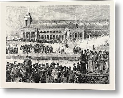 The Funeral Of Count Moltke Artillery Salute At The Lehrter Metal Print