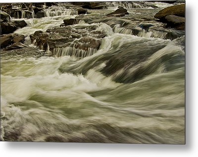 The Furry Of The River..... Metal Print by Ulrich Burkhalter