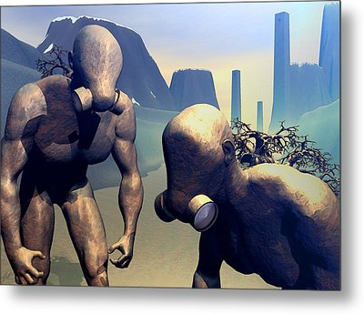 Metal Print featuring the digital art The Future Ancients by John Alexander