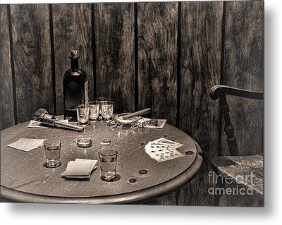 The Gambling Table Metal Print