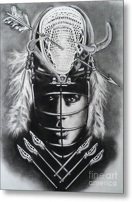 The Game Of Lacrosse  Metal Print by Carla Carson