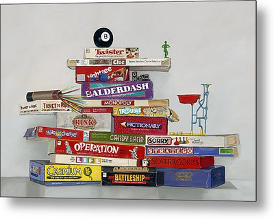 Metal Print featuring the painting The Games People Play by Gail Chandler