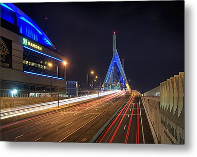 The Garden And The Zakim Metal Print by Joann Vitali