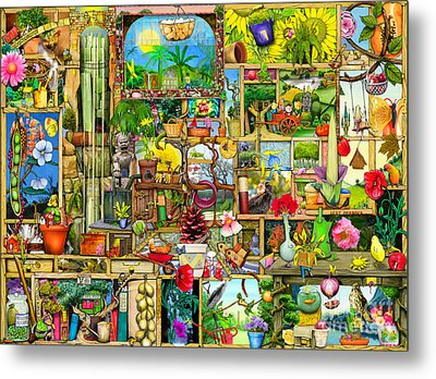 The Garden Cupboard Metal Print by Colin Thompson