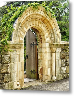 The Garden Gate Metal Print by Jean Goodwin Brooks