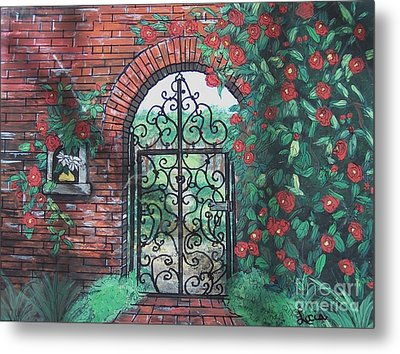 The Garden Gate Metal Print by Lucia Grilletto