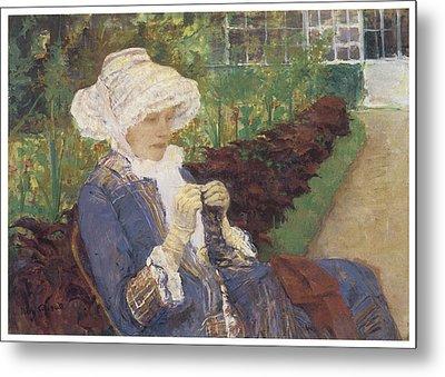 The Garden Metal Print by Mary Cassatt