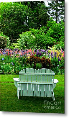 The Garden  Metal Print by Mindy Bench