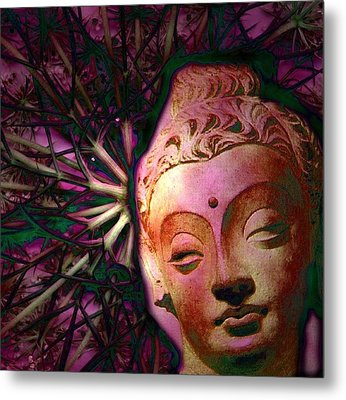 The Garden Of Buddha Metal Print by Martine Jacobs