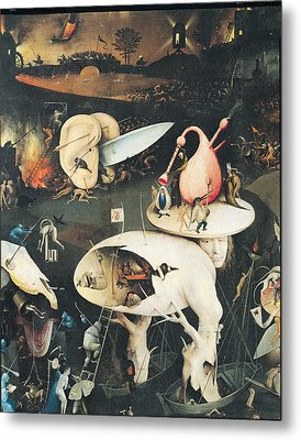 The Garden Of Earthly Delights Hell, Right Wing Of Triptych, C.1500 Oil On Panel See 322, 3425 Metal Print