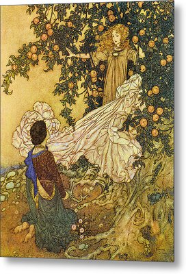 The Garden Of Paradise IIi Metal Print by Edmund Dulac
