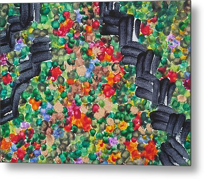 Metal Print featuring the painting The Garden Path by Michele Myers