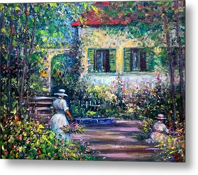 The Garden Metal Print by Philip Corley