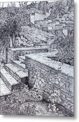 The Garden Wall Metal Print by Janet Felts