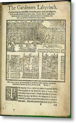 The Gardeners Labyrinth Metal Print
