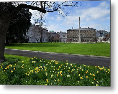 The Gardens At The Rear Of Leinster Metal Print