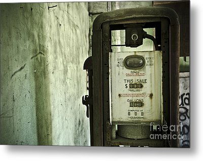 The Gas Pump  Metal Print by Jessica Berlin