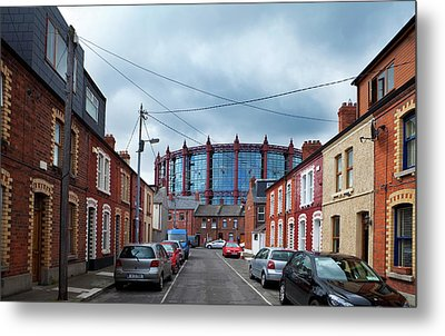 The Gasometer, Now Converted Metal Print