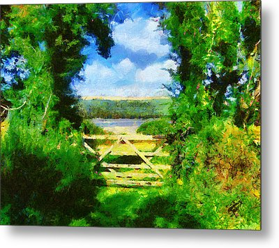 The Gate Metal Print