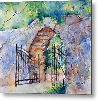 The Gate Metal Print by Cynthia Roudebush