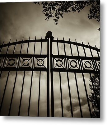 Metal Print featuring the photograph The Gate In Sepia by Steven Milner