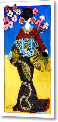 The Geisha Metal Print by Apanaki Temitayo M