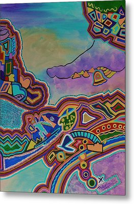Metal Print featuring the painting The Genie Is Out Of The Bottle by Barbara St Jean