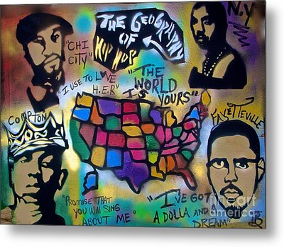 The Geography Of Hip Hop Metal Print by Tony B Conscious